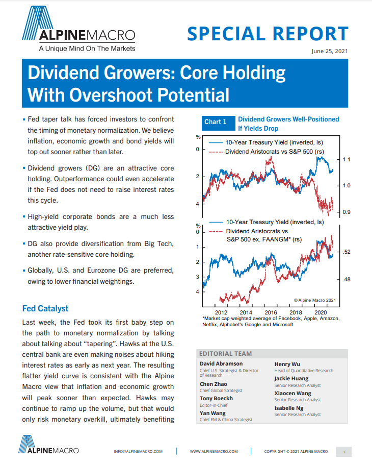 Dividend Growers: Core Holding With Overshoot Potential